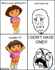 Hilarious Dora Memes Dora The Explorer Funny Memes Y U No Memes