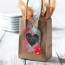 DIY Embellished Paper Bag Wedding Favors