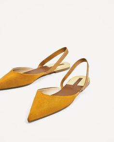 Stitchfix: I would wear these. They would also be great in a bright cobalt blue. -Caitlin    Image 4 of FLAT SLINGBACK SHOES from Zara