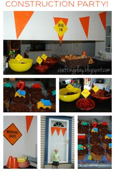 construction party decor | Crafting Play: Construction Truck Birthday Party