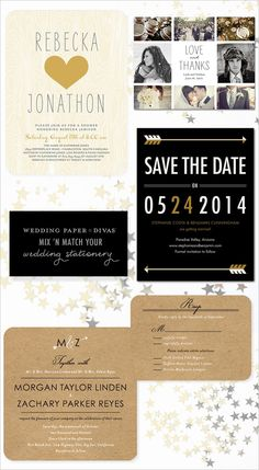 a+ for the kraft paper. simple save the date card idea.