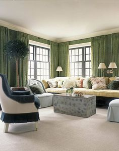 Pennsylvania Farmhouse - Jeffrey Bilhuber - Intense Colors - House Beautiful
