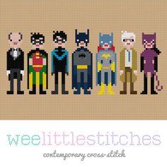 Batman & Friends Cross-Stitch Pattern - Perfect for the boy :)