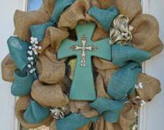 Changing out decor on burlap wreath this a good idea