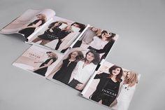 Stylish magazine spread.