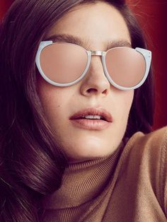 3b4709c8a8 Risultati immagini per measurements for eyewear design. See more. Linda  Farrow Luxe Women s 18K Rose Gold Cat Eye Frame with Gold Accents