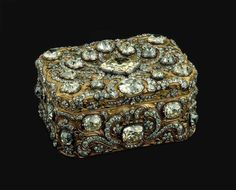 Portuguese crown jewels Gold silver and diamonds box of Joseph I of Portugal. Jean Ducrollay, 1756