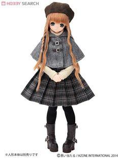 [Close] Komorebimori no Oyofukuyasan [PNS Spruced Up Corset Pleated Skirt] Set (Dark Brown Plaid) (Fashion Doll) Item picture1