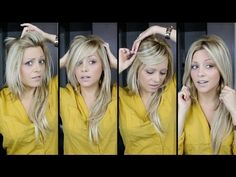 "▶ DIY: perfect Bangs, 4 Ways tutorial video - YouTube .. bei 1.45 toller tipp zu ""doppelpony"""