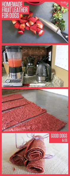 Homemade fruit leather that's safe for dogs! A treat for you AND your pet!