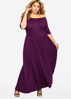 Off-Shoulder T-Shirt Maxi Dress Off-Shoulder T-Shirt Maxi Dress
