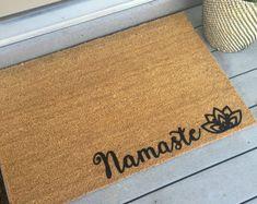 Door mat - Doormat - Custom Gift - Yoga Lover Gift - Welcome Mat - Yoga Decor -Namaste - Yoga Gift - Friend Gift - Yoga Lover