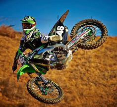 Adam Cianciarulo on the monster energy Kawasaki