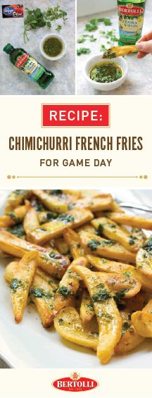 Kroger Game Day Greats has us thinking of delicious ways to cheer on our favorite team this football season. And in our opinion, there's no better way to do that than with festive finger foods and amazing appetizers featuring, crowd-favorite, Bertolli® Organic Extra Virgin Olive Oil! Check out this recipe for Chimichurri French Fries to see how simple this tailgating dish is to make and head over to your local Kroger to find your ingredients and party essentials all season long.