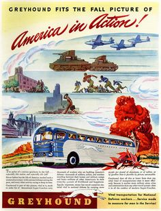 Promotion for Greyhound Bus Lines