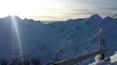 Pare che il sole ci abbia seguiti in cima  al ghiacciaio!