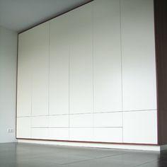 Hallway Closet, Hallway Storage, Closet Bedroom, Bedroom Storage, Home Bedroom, Bedroom Cupboards, Living Room Shelves, Bedroom Cupboard Designs, Wardrobe Furniture