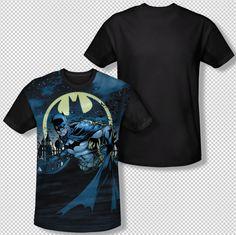 Batman Heed The Call Gotham City At Night All Over Front Sublimation T-shirt Top  Official Licensed Batman DC Comics Sublimated Black Back Print #Batman #BruceWayne #BatmanTshirt #DCComics #JusticeLeague #TheDarkKnight #BatSymbol #BatSignal