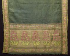 Sash (patka) - early 18th century. Brocaded silk with silver and silver-gilt threads. North India.