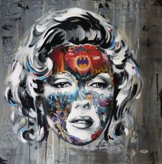 Sandra Chevrier original for sale. Urban Art and Street Art Forum with Print Release Gallery news and Art For Sale. Graffiti Art, Urban Graffiti, L'art Du Portrait, Collage Portrait, Portraits, Art And Illustration, Illustrations, Collages, Sandra Chevrier