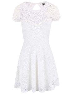 c4e4b92ae7959d Bílé krajkované šaty Vero Moda Celeb