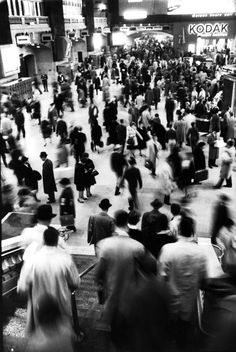 This photograph by LIFE's Alfred Eisenstaedt taken in Grand Central Terminal manages to capture the hustle and bustle of the city we call home.  (Alfred Eisenstaedt—Time & Life Pictures/Getty Images)