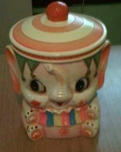 elephant cookie jar | 50s elephant cookie jar