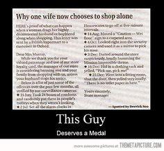 Waarom mannen niet mee mogen shoppen...
