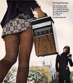 vintage advertisement - Bell and Howell - The Sound Machine