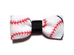 2 Softball Baseball Tuxedo Hair Bow by mmslittleshoppe on Etsy, $2.50