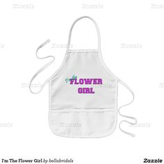 I'm The Flower Girl Kids' Apron
