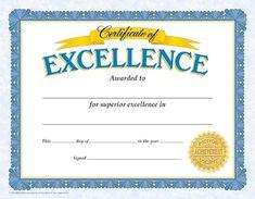 printable certificate of achievement certificates pinterest