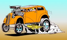 Hot Rod Cartoon Art Gallery | IF YOU LOVE YOUR CAR,