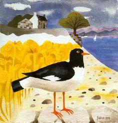 Mary Fedden by Willow Winds. Bird Quilt, Wildlife Paintings, True Art, Naive Art, Mellow Yellow, Simple Art, Bird Art, Beautiful Artwork, Painting Inspiration