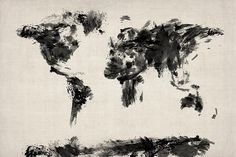 Map of the World Map Abstract  http://fineartamerica.com/featured/map-of-the-world-map-abstract-michael-tompsett.html