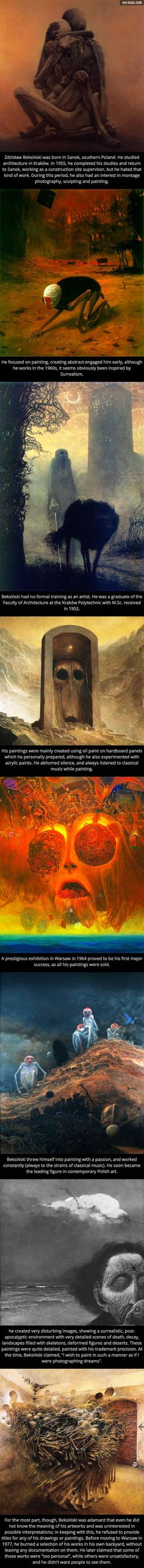 The Beautiful and Horrific Artwork of Zdzisław Beksiński - www.viralpx.com | www.facebook.com/viralpx