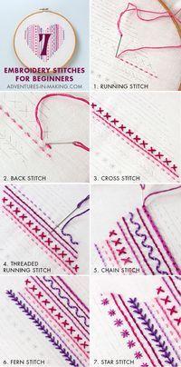 Most up-to-date Free Embroidery Patterns jeans Style sticken lernen einefache stiche sticktechniken gobelin techniken Embroidery Stitches Tutorial, Embroidery Sampler, Silk Ribbon Embroidery, Hand Embroidery Designs, Embroidery Techniques, Cross Stitch Embroidery, Embroidery Ideas, Beginner Embroidery, Simple Embroidery