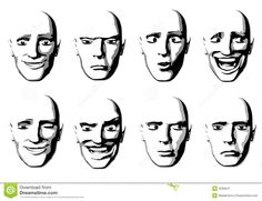 Abstract Facial Expressions Man Royalty Free Stock Photography ...