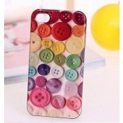Colorful Buttons Protective Back Case for iPhone 4 and 4s