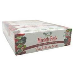 Macro Life Naturals Miracle Reds Raw Anti-Oxidant Super Food Bars