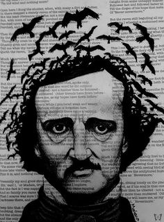 """Nevermore """"Let my heart be still a moment and this mystery explore…"""" - Edgar Allan Poe. Edgar Allan Poe, Hp Lovecraft, Quoth The Raven, Allen Poe, Crows Ravens, Mundo Animal, Love Art, Halloween, Art Projects"""