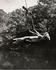 Woman on Swing, 1943. Photo André Kertész.