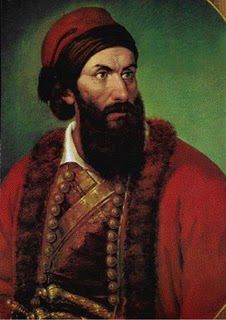 Georgios Dimitrios Flessas was his birth name. His monastic name was Gregory Flessas (Grigórios Fléssas) or Papaflessas, while the pseudonym he used later in his life was Gregory Dikaios. Portrait of Poliani, Messinia, Ottoman Empire Greek Independence, Greek Warrior, Greek Culture, In Ancient Times, Ottoman Empire, Revolution, Greece, The Past, History