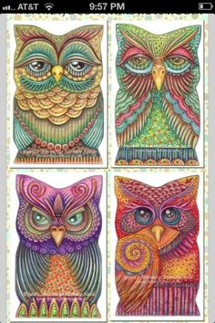 Owls by joan