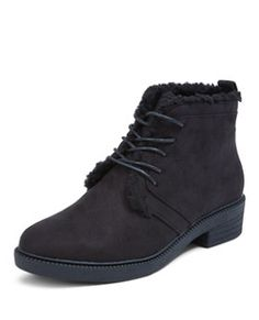b9306c629fbae New Look Teens Grey Lace Up Ankle Boots ($32) ❤ liked on Polyvore featuring  shoes, boots, ankle booties, grey, gray boots, lace up…