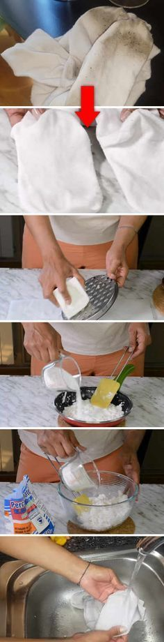 Socks and white clothes like new. How to make the best homemade bleach. - Home Cleaning Diy Cleaning Products, Cleaning Solutions, Cleaning Hacks, Homemade Bleach, Power Clean, Diy Cleaners, Home Hacks, Housekeeping, Clean House