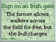 Sign on an Irish gate