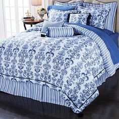 Highgate Manor Portofino 9pc Reversible Comforter Set On Clearance!  Reversible so 2 comforters for the price of one!  Gorgeous, soft, and a wonderful way to transform your bedroom into an oasis.