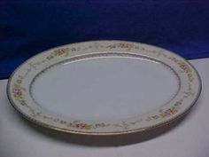 Vintage-Meito-China-Hand-Painted-Made-in-Japan-14-Oval-Turkey-Meat-Platter-Nice