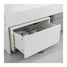 IKEA - SLÄKT, Storage box with castors, , Easy to move where it is needed thanks to castors.